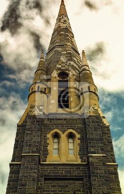 Постер Мельбурн Старая церковьМельбурн<br>Постер на холсте или бумаге. Любого нужного вам размера. В раме или без. Подвес в комплекте. Трехслойная надежная упаковка. Доставим в любую точку России. Вам осталось только повесить картину на стену!<br>