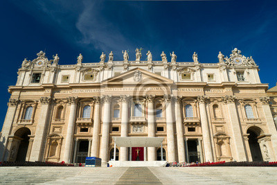 Постер Ватикан Собор Святого Петра в Риме, РимВатикан<br>Постер на холсте или бумаге. Любого нужного вам размера. В раме или без. Подвес в комплекте. Трехслойная надежная упаковка. Доставим в любую точку России. Вам осталось только повесить картину на стену!<br>
