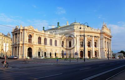 Постер Вена Бургтеатр-австрийский Национальный Театр в ВенеВена<br>Постер на холсте или бумаге. Любого нужного вам размера. В раме или без. Подвес в комплекте. Трехслойная надежная упаковка. Доставим в любую точку России. Вам осталось только повесить картину на стену!<br>