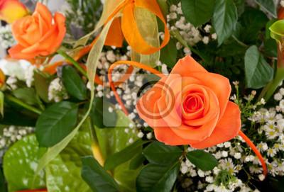 Постер Розы Роза arancioneРозы<br>Постер на холсте или бумаге. Любого нужного вам размера. В раме или без. Подвес в комплекте. Трехслойная надежная упаковка. Доставим в любую точку России. Вам осталось только повесить картину на стену!<br>