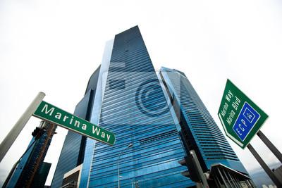 Постер Сингапур Marina Bay небоскребы делового района Сингапура.Сингапур<br>Постер на холсте или бумаге. Любого нужного вам размера. В раме или без. Подвес в комплекте. Трехслойная надежная упаковка. Доставим в любую точку России. Вам осталось только повесить картину на стену!<br>
