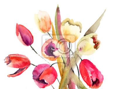 Постер Тюльпаны Тюльпаны цветы, АкварельТюльпаны<br>Постер на холсте или бумаге. Любого нужного вам размера. В раме или без. Подвес в комплекте. Трехслойная надежная упаковка. Доставим в любую точку России. Вам осталось только повесить картину на стену!<br>