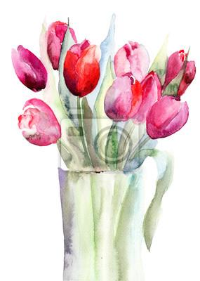 Постер Тюльпаны Красивые Тюльпаны, цветы, АкварельТюльпаны<br>Постер на холсте или бумаге. Любого нужного вам размера. В раме или без. Подвес в комплекте. Трехслойная надежная упаковка. Доставим в любую точку России. Вам осталось только повесить картину на стену!<br>