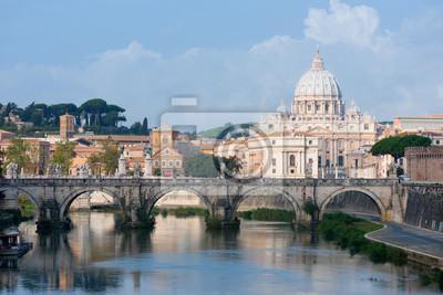 Постер Ватикан Вид на ВатиканВатикан<br>Постер на холсте или бумаге. Любого нужного вам размера. В раме или без. Подвес в комплекте. Трехслойная надежная упаковка. Доставим в любую точку России. Вам осталось только повесить картину на стену!<br>