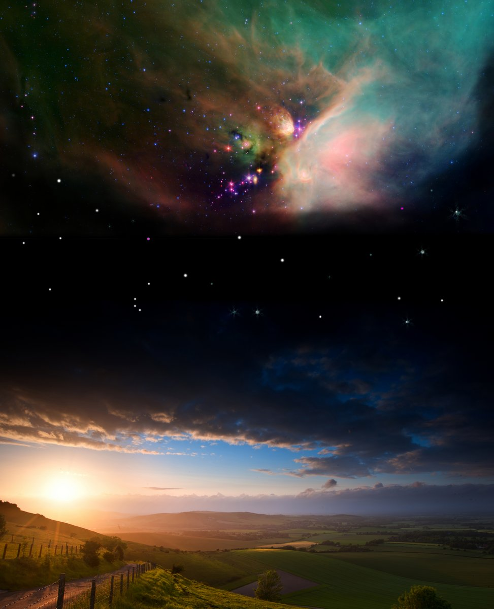 Постер Космос - разные постеры Деревня закат пейзаж с планеты в ночное небо ЭлементовКосмос - разные постеры<br>Постер на холсте или бумаге. Любого нужного вам размера. В раме или без. Подвес в комплекте. Трехслойная надежная упаковка. Доставим в любую точку России. Вам осталось только повесить картину на стену!<br>