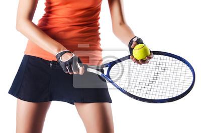 Постер Спорт Женщины играли в теннис на белом, 30x20 см, на бумагеБольшой теннис<br>Постер на холсте или бумаге. Любого нужного вам размера. В раме или без. Подвес в комплекте. Трехслойная надежная упаковка. Доставим в любую точку России. Вам осталось только повесить картину на стену!<br>