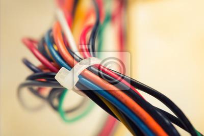 Постер Производство электронных компонентов и кабеля Красочные электрических кабелейПроизводство электронных компонентов и кабеля<br>Постер на холсте или бумаге. Любого нужного вам размера. В раме или без. Подвес в комплекте. Трехслойная надежная упаковка. Доставим в любую точку России. Вам осталось только повесить картину на стену!<br>
