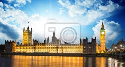 Постер Города и карты Биг-Бен и здание парламента, 37x20 см, на бумагеЛондон<br>Постер на холсте или бумаге. Любого нужного вам размера. В раме или без. Подвес в комплекте. Трехслойная надежная упаковка. Доставим в любую точку России. Вам осталось только повесить картину на стену!<br>