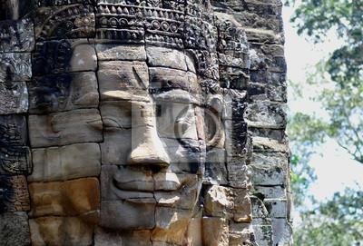 Постер Мьянма (Бирма) Храм Байон лицоМьянма (Бирма)<br>Постер на холсте или бумаге. Любого нужного вам размера. В раме или без. Подвес в комплекте. Трехслойная надежная упаковка. Доставим в любую точку России. Вам осталось только повесить картину на стену!<br>