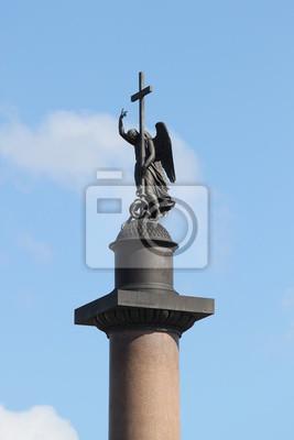 Постер Санкт-Петербург Александрийский столп, Санкт-ПетербургСанкт-Петербург<br>Постер на холсте или бумаге. Любого нужного вам размера. В раме или без. Подвес в комплекте. Трехслойная надежная упаковка. Доставим в любую точку России. Вам осталось только повесить картину на стену!<br>