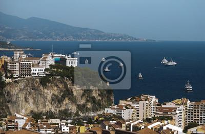 Постер Монако Вид на МонакоМонако<br>Постер на холсте или бумаге. Любого нужного вам размера. В раме или без. Подвес в комплекте. Трехслойная надежная упаковка. Доставим в любую точку России. Вам осталось только повесить картину на стену!<br>
