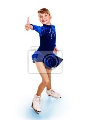 Постер Фигурное катание Девушка фигурному катанию показывают большой палец вверх.Фигурное катание<br>Постер на холсте или бумаге. Любого нужного вам размера. В раме или без. Подвес в комплекте. Трехслойная надежная упаковка. Доставим в любую точку России. Вам осталось только повесить картину на стену!<br>