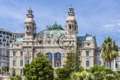Постер Монако Grand Theatre de Monte Carlo. Архитектора Шарля Гарнье. Монако.Монако<br>Постер на холсте или бумаге. Любого нужного вам размера. В раме или без. Подвес в комплекте. Трехслойная надежная упаковка. Доставим в любую точку России. Вам осталось только повесить картину на стену!<br>
