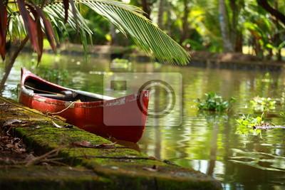 Постер Индия Пальмы, тропические леса в заводь Кочин, Керала, ИндияИндия<br>Постер на холсте или бумаге. Любого нужного вам размера. В раме или без. Подвес в комплекте. Трехслойная надежная упаковка. Доставим в любую точку России. Вам осталось только повесить картину на стену!<br>