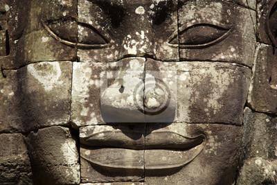 Постер Камбоджа Лицо храм БайонКамбоджа<br>Постер на холсте или бумаге. Любого нужного вам размера. В раме или без. Подвес в комплекте. Трехслойная надежная упаковка. Доставим в любую точку России. Вам осталось только повесить картину на стену!<br>