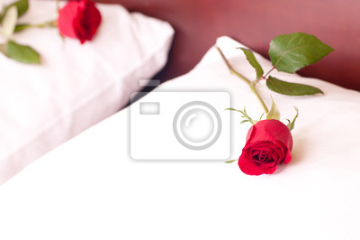 Постер Розы Красные розы на подушкахРозы<br>Постер на холсте или бумаге. Любого нужного вам размера. В раме или без. Подвес в комплекте. Трехслойная надежная упаковка. Доставим в любую точку России. Вам осталось только повесить картину на стену!<br>