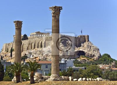 Постер Греция Храм Зевса олимпийского в Афинах, ГрецияГреция<br>Постер на холсте или бумаге. Любого нужного вам размера. В раме или без. Подвес в комплекте. Трехслойная надежная упаковка. Доставим в любую точку России. Вам осталось только повесить картину на стену!<br>
