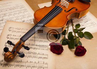 Постер Розы Валентин скрипкаРозы<br>Постер на холсте или бумаге. Любого нужного вам размера. В раме или без. Подвес в комплекте. Трехслойная надежная упаковка. Доставим в любую точку России. Вам осталось только повесить картину на стену!<br>