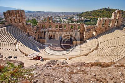 Постер Греция Древний театр в Акрополь, Афины, ГрецияГреция<br>Постер на холсте или бумаге. Любого нужного вам размера. В раме или без. Подвес в комплекте. Трехслойная надежная упаковка. Доставим в любую точку России. Вам осталось только повесить картину на стену!<br>