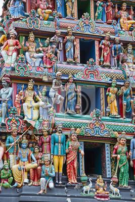 Постер Города и карты Индуистский храм в Сингапуре, 20x30 см, на бумагеСингапур<br>Постер на холсте или бумаге. Любого нужного вам размера. В раме или без. Подвес в комплекте. Трехслойная надежная упаковка. Доставим в любую точку России. Вам осталось только повесить картину на стену!<br>
