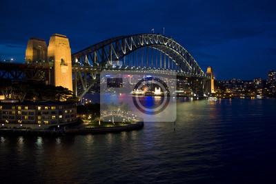 Постер Сидней Sydney Harbour bridge после заката, Новый Южный Уэльс, АвстралияСидней<br>Постер на холсте или бумаге. Любого нужного вам размера. В раме или без. Подвес в комплекте. Трехслойная надежная упаковка. Доставим в любую точку России. Вам осталось только повесить картину на стену!<br>