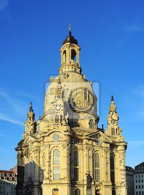 Постер Дрезден Frauenkirche DresdenДрезден<br>Постер на холсте или бумаге. Любого нужного вам размера. В раме или без. Подвес в комплекте. Трехслойная надежная упаковка. Доставим в любую точку России. Вам осталось только повесить картину на стену!<br>