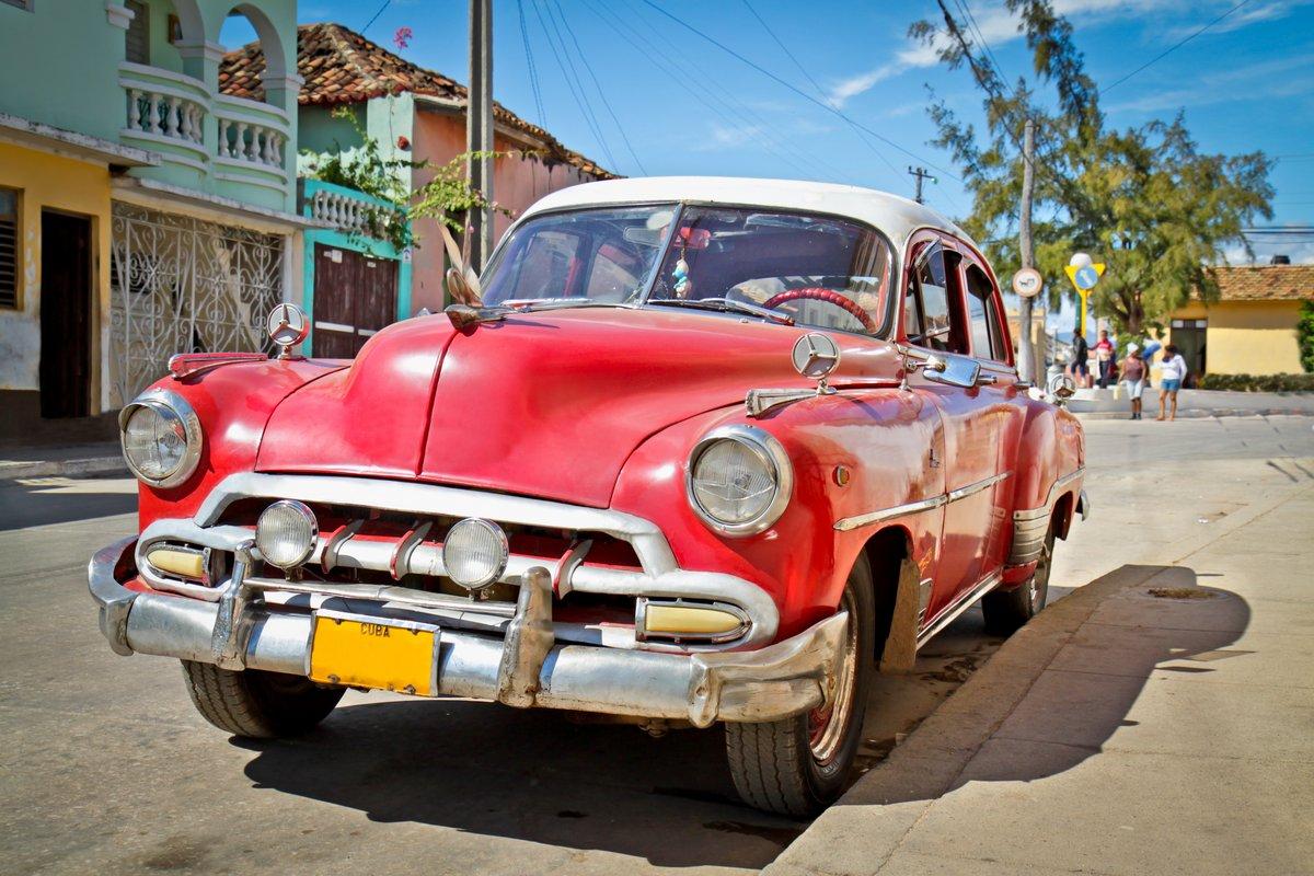 Постер Куба Классический Chevrolet в Тринидад, КубаКуба<br>Постер на холсте или бумаге. Любого нужного вам размера. В раме или без. Подвес в комплекте. Трехслойная надежная упаковка. Доставим в любую точку России. Вам осталось только повесить картину на стену!<br>