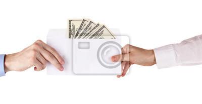 Женская рука проходит конверт с долларами, 39x20 см, на бумагеБанк, финансовое учреждение<br>Постер на холсте или бумаге. Любого нужного вам размера. В раме или без. Подвес в комплекте. Трехслойная надежная упаковка. Доставим в любую точку России. Вам осталось только повесить картину на стену!<br>