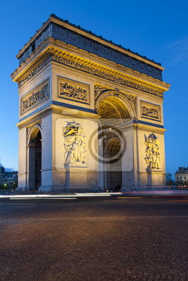 Постер Париж Триумфальная арка ночьюПариж<br>Постер на холсте или бумаге. Любого нужного вам размера. В раме или без. Подвес в комплекте. Трехслойная надежная упаковка. Доставим в любую точку России. Вам осталось только повесить картину на стену!<br>
