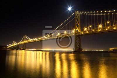 Постер Города и карты Сан-Франциско, Bay bridge, 30x20 см, на бумагеСан-Франциско<br>Постер на холсте или бумаге. Любого нужного вам размера. В раме или без. Подвес в комплекте. Трехслойная надежная упаковка. Доставим в любую точку России. Вам осталось только повесить картину на стену!<br>