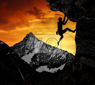 Постер Альпийский пейзаж Альпинисты в швейцарских АльпахАльпийский пейзаж<br>Постер на холсте или бумаге. Любого нужного вам размера. В раме или без. Подвес в комплекте. Трехслойная надежная упаковка. Доставим в любую точку России. Вам осталось только повесить картину на стену!<br>