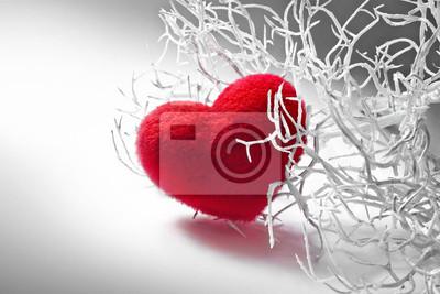 Валентина белая ветка с красными пушистыми сердце, 30x20 см, на бумаге02.14 День Святого Валентина (День всех влюбленных)<br>Постер на холсте или бумаге. Любого нужного вам размера. В раме или без. Подвес в комплекте. Трехслойная надежная упаковка. Доставим в любую точку России. Вам осталось только повесить картину на стену!<br>