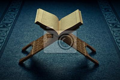 Коран - священная книга мусульман, в Турецкая мечеть, 30x20 см, на бумагеРелигия<br>Постер на холсте или бумаге. Любого нужного вам размера. В раме или без. Подвес в комплекте. Трехслойная надежная упаковка. Доставим в любую точку России. Вам осталось только повесить картину на стену!<br>