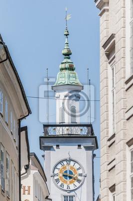 Старая ратуша (Altes Rathaus) в Зальцбург, Австрия, 20x30 см, на бумагеЗальцбург<br>Постер на холсте или бумаге. Любого нужного вам размера. В раме или без. Подвес в комплекте. Трехслойная надежная упаковка. Доставим в любую точку России. Вам осталось только повесить картину на стену!<br>