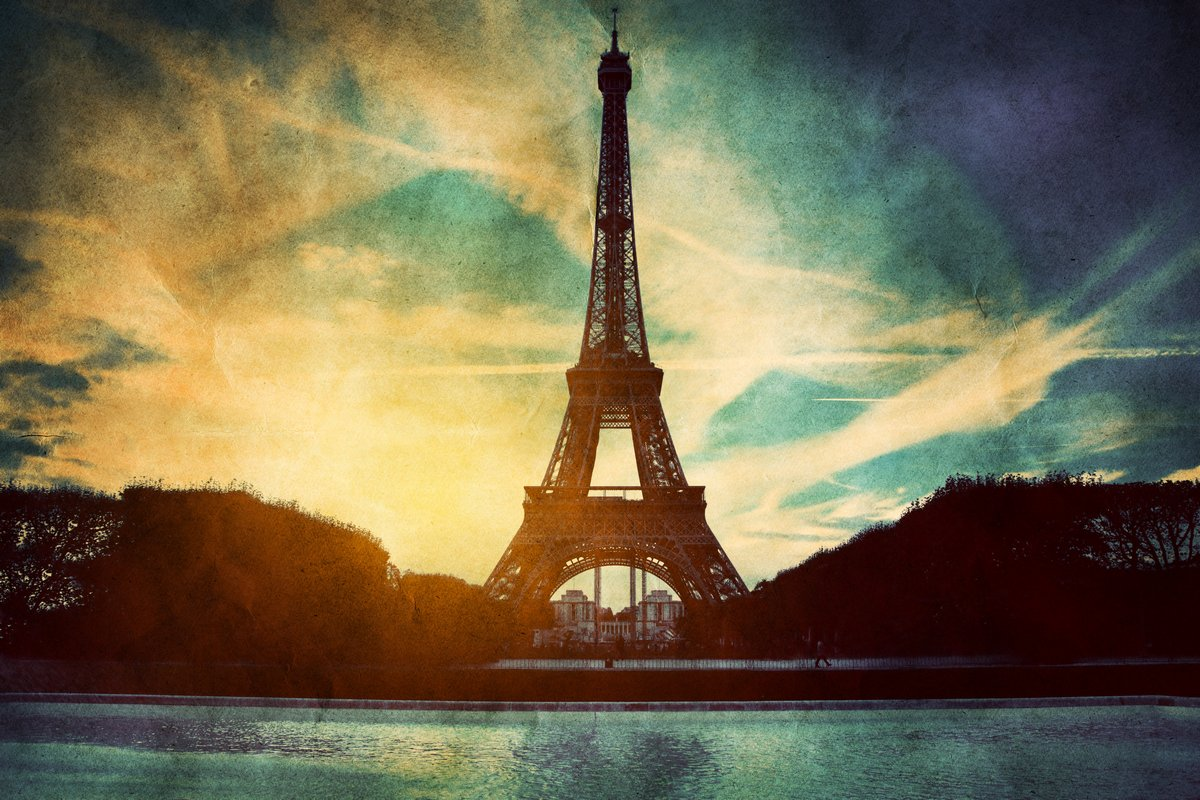 Постер Париж Эйфелева Башня в Париже, в ретро-стиле.Париж<br>Постер на холсте или бумаге. Любого нужного вам размера. В раме или без. Подвес в комплекте. Трехслойная надежная упаковка. Доставим в любую точку России. Вам осталось только повесить картину на стену!<br>