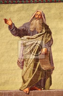 Постер Рим Мозаика Пророка Даниила в базилике Святого Павла. РимРим<br>Постер на холсте или бумаге. Любого нужного вам размера. В раме или без. Подвес в комплекте. Трехслойная надежная упаковка. Доставим в любую точку России. Вам осталось только повесить картину на стену!<br>