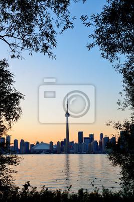 Постер Торонто Торонто закатТоронто<br>Постер на холсте или бумаге. Любого нужного вам размера. В раме или без. Подвес в комплекте. Трехслойная надежная упаковка. Доставим в любую точку России. Вам осталось только повесить картину на стену!<br>