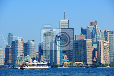Постер Города и карты Торонто горизонта в день, 30x20 см, на бумагеТоронто<br>Постер на холсте или бумаге. Любого нужного вам размера. В раме или без. Подвес в комплекте. Трехслойная надежная упаковка. Доставим в любую точку России. Вам осталось только повесить картину на стену!<br>