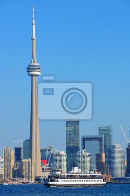 Постер Торонто Торонто горизонта в деньТоронто<br>Постер на холсте или бумаге. Любого нужного вам размера. В раме или без. Подвес в комплекте. Трехслойная надежная упаковка. Доставим в любую точку России. Вам осталось только повесить картину на стену!<br>