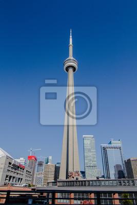 Постер Торонто CN TowerТоронто<br>Постер на холсте или бумаге. Любого нужного вам размера. В раме или без. Подвес в комплекте. Трехслойная надежная упаковка. Доставим в любую точку России. Вам осталось только повесить картину на стену!<br>