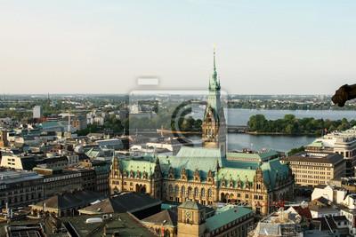Постер Города и карты Вид с воздуха Гамбург - Германия, 30x20 см, на бумагеГамбург<br>Постер на холсте или бумаге. Любого нужного вам размера. В раме или без. Подвес в комплекте. Трехслойная надежная упаковка. Доставим в любую точку России. Вам осталось только повесить картину на стену!<br>