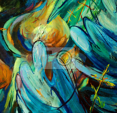 Постер Рождественские ангелы над церковным куполом, иллюстрации, живописьАбстракция<br>Постер на холсте или бумаге. Любого нужного вам размера. В раме или без. Подвес в комплекте. Трехслойная надежная упаковка. Доставим в любую точку России. Вам осталось только повесить картину на стену!<br>