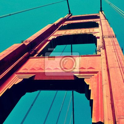 Постер Сан-Франциско Мост  Золотые Ворота, Сан-Франциско, СШАСан-Франциско<br>Постер на холсте или бумаге. Любого нужного вам размера. В раме или без. Подвес в комплекте. Трехслойная надежная упаковка. Доставим в любую точку России. Вам осталось только повесить картину на стену!<br>