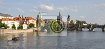 Постер Прага Charles Bridge, ПрагаПрага<br>Постер на холсте или бумаге. Любого нужного вам размера. В раме или без. Подвес в комплекте. Трехслойная надежная упаковка. Доставим в любую точку России. Вам осталось только повесить картину на стену!<br>