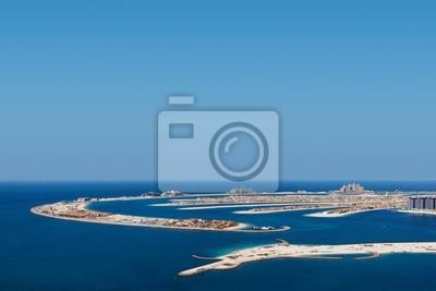 Постер Дубай Palm Jumeirah, Дубай является чрезвычайно популярный жилой районДубай<br>Постер на холсте или бумаге. Любого нужного вам размера. В раме или без. Подвес в комплекте. Трехслойная надежная упаковка. Доставим в любую точку России. Вам осталось только повесить картину на стену!<br>