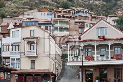 Постер Грузия Деревянные балконы в Тбилиси.Грузия<br>Постер на холсте или бумаге. Любого нужного вам размера. В раме или без. Подвес в комплекте. Трехслойная надежная упаковка. Доставим в любую точку России. Вам осталось только повесить картину на стену!<br>