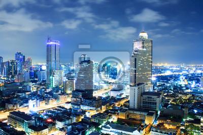 Постер Бангкок Бангкок город в сумерках Бангкок<br>Постер на холсте или бумаге. Любого нужного вам размера. В раме или без. Подвес в комплекте. Трехслойная надежная упаковка. Доставим в любую точку России. Вам осталось только повесить картину на стену!<br>