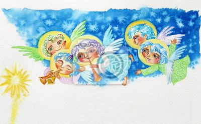 Постер Разные детские постеры Акварельный РисунокРазные детские постеры<br>Постер на холсте или бумаге. Любого нужного вам размера. В раме или без. Подвес в комплекте. Трехслойная надежная упаковка. Доставим в любую точку России. Вам осталось только повесить картину на стену!<br>