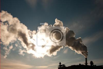 Дым от промышленной дымовой трубы, затмевая солнце,, 30x20 см, на бумагеГазовая промышленность<br>Постер на холсте или бумаге. Любого нужного вам размера. В раме или без. Подвес в комплекте. Трехслойная надежная упаковка. Доставим в любую точку России. Вам осталось только повесить картину на стену!<br>