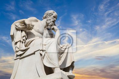 Постер Греция Статуя Сократа от академии Афины,ГрецияГреция<br>Постер на холсте или бумаге. Любого нужного вам размера. В раме или без. Подвес в комплекте. Трехслойная надежная упаковка. Доставим в любую точку России. Вам осталось только повесить картину на стену!<br>